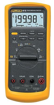fluke 87 v digital multimeter amazon com rh amazon com Fluke Multimeter 187 Fluke 10