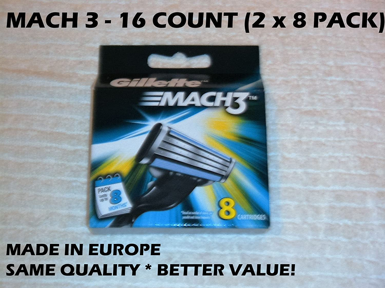 Gillette MACH 3 Refill Cartridges - 8 ct - 2 pk