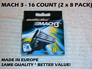 Gillette MACH 3 Refill Cartridges - 8 ct - 2 pk