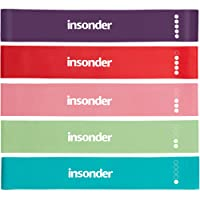 Insonder Resistance Bands Exercise Loop Band Set of 5 Perfect for Home Gym Fitness Yoga