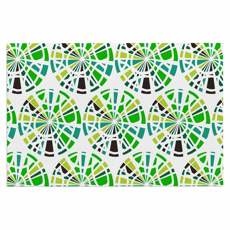 Kess InHouse Patternmuse Precious Emerald Green Olive Illustration Decorative Door 2 x 3 Floor Mat