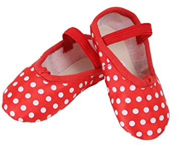 3d8adc3c332ce BABY BALLET SHOES RED POLKA DOT SATIN TODDLER size 5