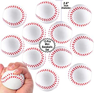 Mini Sports Balls for Kids Party Favor Toy, Soccer Ball, Basketball, Football, Baseball Squeeze Foam for Stress, Anxiety Relief, Relaxation.