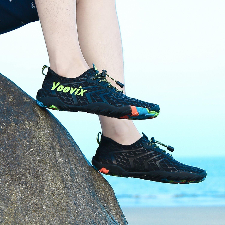Voovix Water Shoes Men Women Quick Dry Barefoot Swim Beach Aqua Sports Pool Diving Surf Yoga