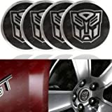 Autobot Transformers Silver/Black Wheel Center Decal Emblems