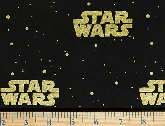 1//2 Yard X 44 Wide Officially Licensed 1//2 Yard Star Wars R2-D2 and C-3PO Sugar Skulls Cotton Fabric Great for Quilting, Sewing, Craft Projects, Quilts, Throw Pillows /& More