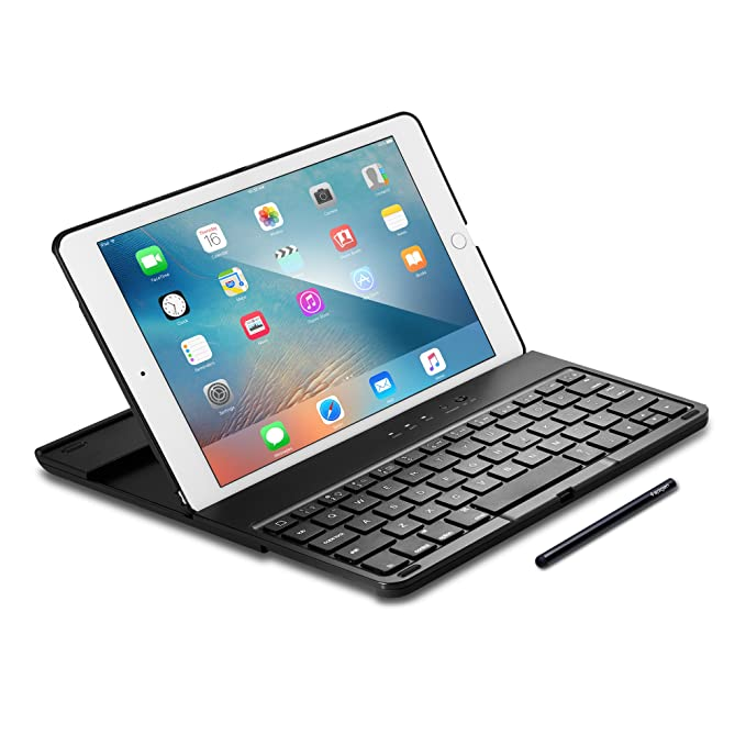 Spigen K101W iPad Pro 9.7 Keyboard Case with Integrated Stylus and Bluetooth Wireless Connection and Detachable Case for iPad Pro 9.7 Inch / only compatible with 2015 iPad Pro 9.7