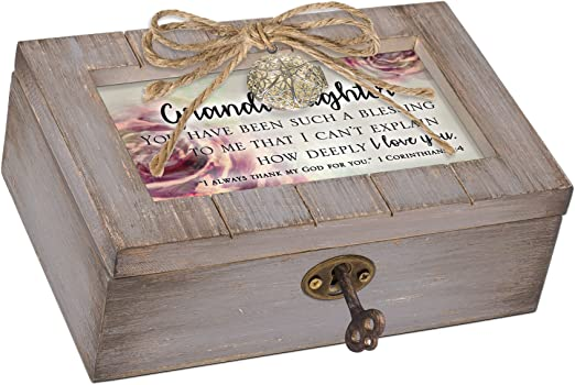 Cottage Garden Grandma Loves You So Much Blush Pink Locket Petite Music Box Plays You Light Up My Life