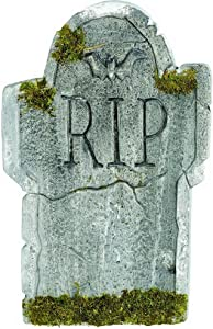 "amscan Mossy Bat Tombstone 22"", Gray (193008)"