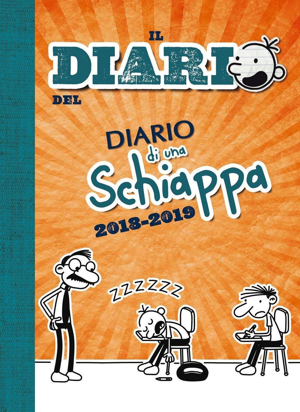 Diario di una Schiappa 14x19 cm Diario imbottito 2018//2019 datato