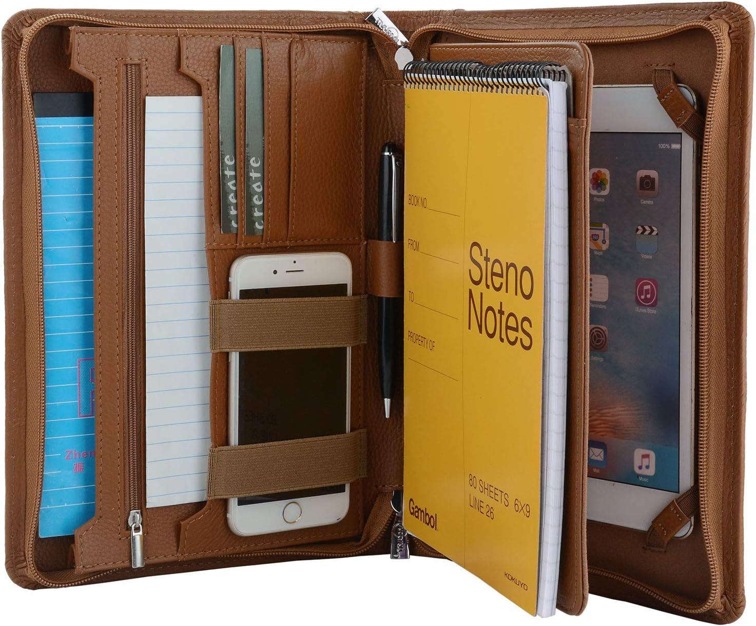 Portable Business Portfolio Padfolio Folder Dokument A5 PU Lederhalter S8Q1