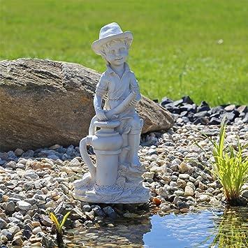 CLGarden Gárgola Figura Gato Caño de Agua para pozos, Estanque, Elemento Decorativo en el jardín, en la terraza o en el balcón: Amazon.es: Jardín