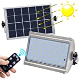 KUFUNG Solar Lights Outdoor, IP65 Waterproof Motion Sensor Flood Light, LED Wireless Security Lights with Remote Control, 800 Lumens LED Solar Lamp for Shed, Yard, Fence, Patio, Gutter, Street