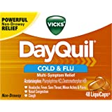 Vicks DayQuil Cough Cold and Flu Relief, 48 LiquiCaps