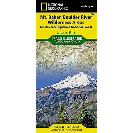 Trails Illustrated Mount Baker Boulder River Wilderness Area #826