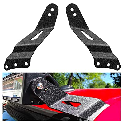 "Nilight 90031B 52Inch 2PCS 52"" Curved LED Light Bar Bracket at Upper Windshield Roof Cab for 99-06 Chevy Silverado Suburban Avalanche Tahoe & GMC Yukon Sierra, 2 Years Warranty: Automotive"