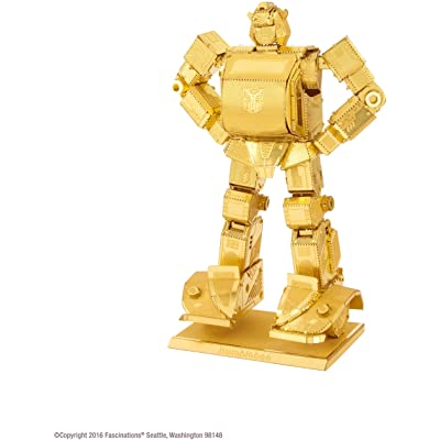 Metal Earth Transformers Gold Bumblebee: Toys & Games