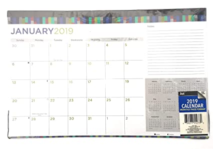 Amazon Com Monthly Planner Desk Calendar 2019 Assorted Colors