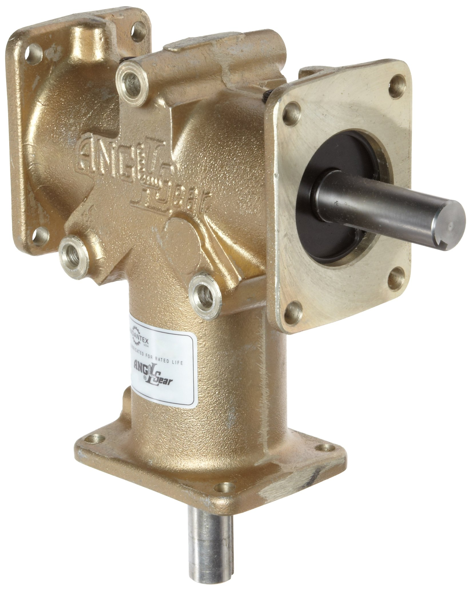 Andantex R3330-2 Anglgear Right Angle Bevel Gear Drive, Universal Mounting, Single Output shaft, 3 Flange, Inch, 3/4'' Shaft Diameter, 2:1 Ratio.1.24 Hp at 1750rpm