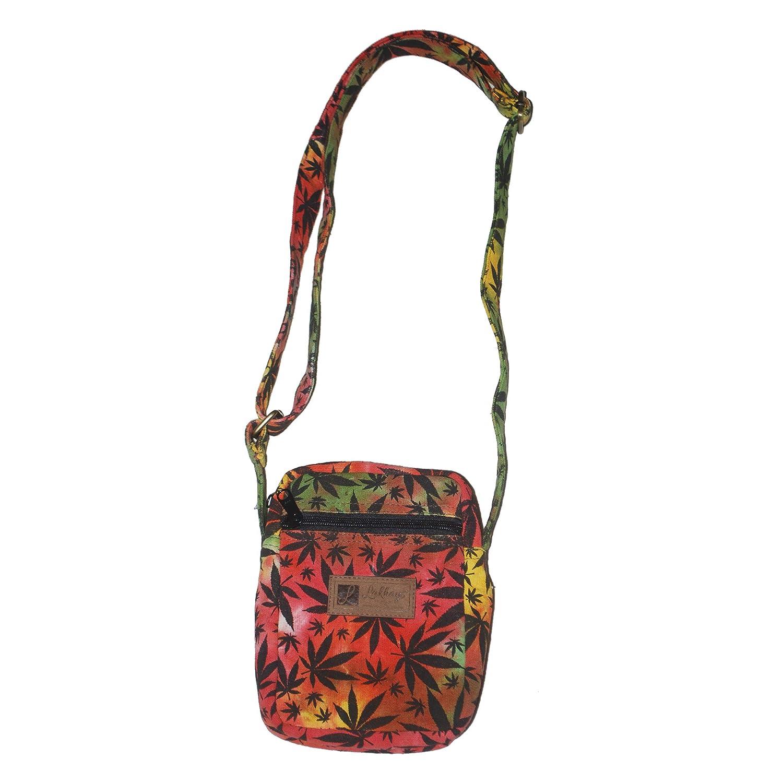 Hippie Rasta Canna-Leaf Messenger Bag