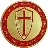Commemorative Knights Templar Crusade Cross Gold Masonic Coin