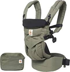 Ergobaby Omni 360 All-in-One Ergonomic Baby Carrier, All Carry Positions, Newborn to Toddler, Khaki Green