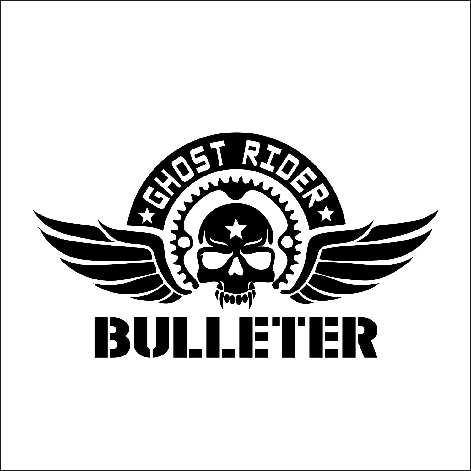 Stickerbuy ghost rider bulleter reflective customised royal enfield sticker decal sticker amazon in car motorbike