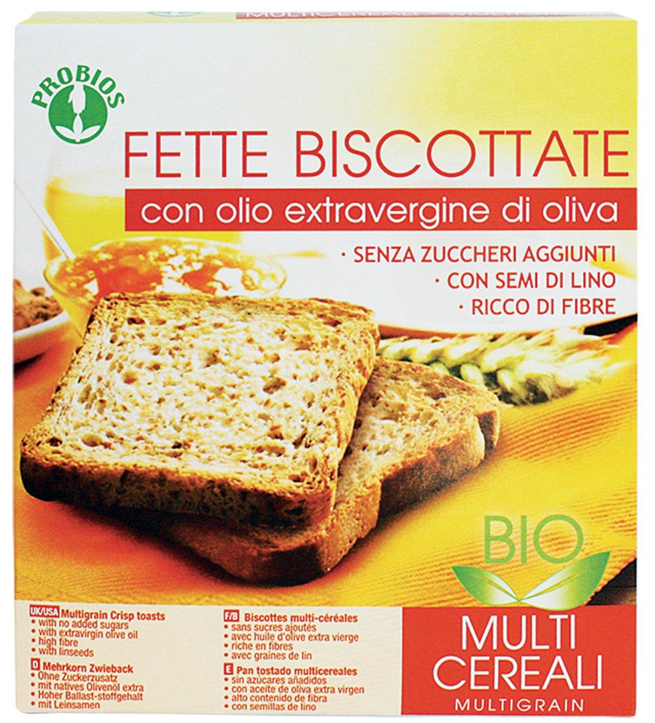 Probios Pan Tostado Multicereales - Paquete de 12 x 270 gr - Total: 3240 gr: Amazon.es: Alimentación y bebidas
