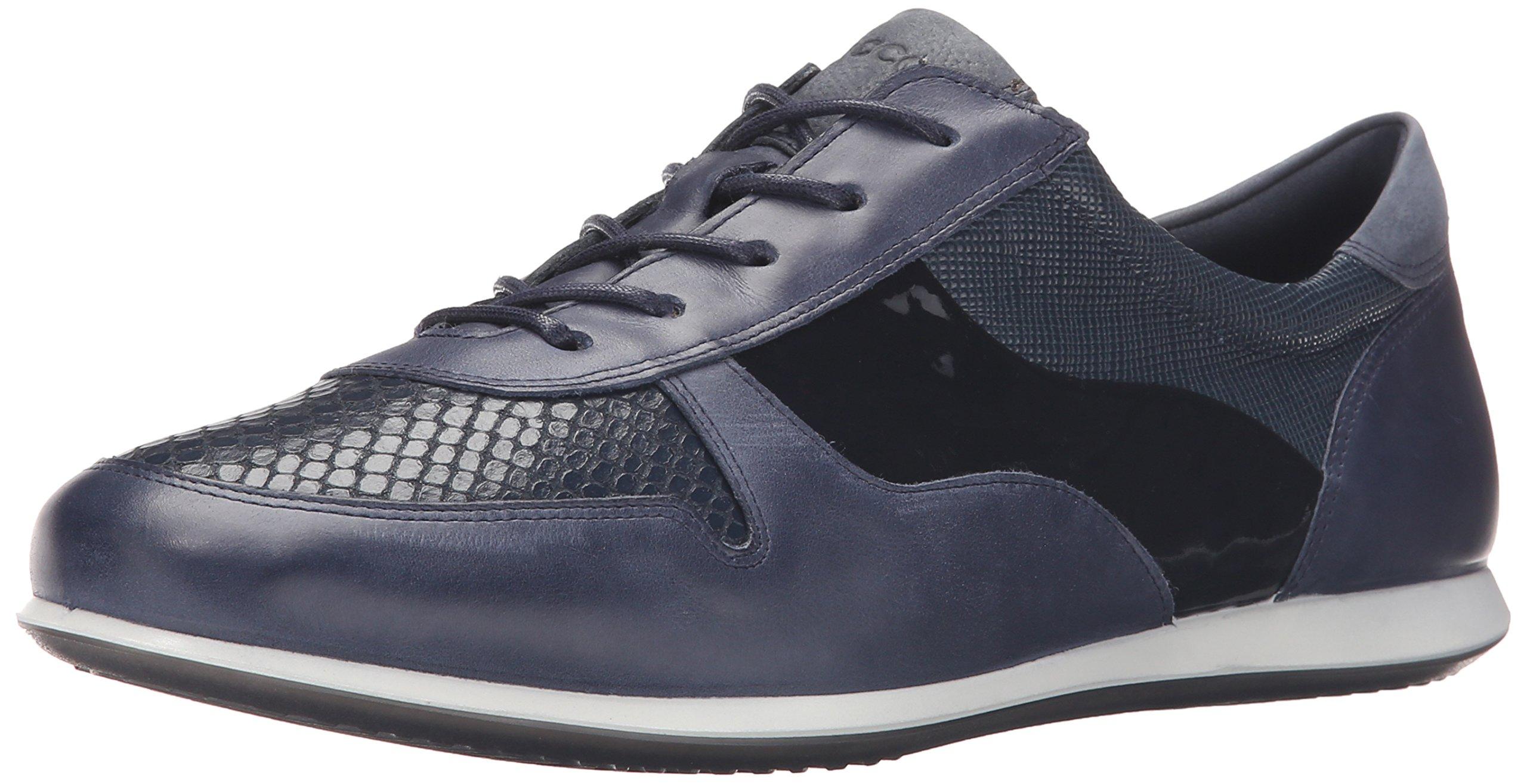 ECCO Footwear Womens Touch Tie Fashion Sneaker, Marine/Marine, 39 EU/8-8.5 M US