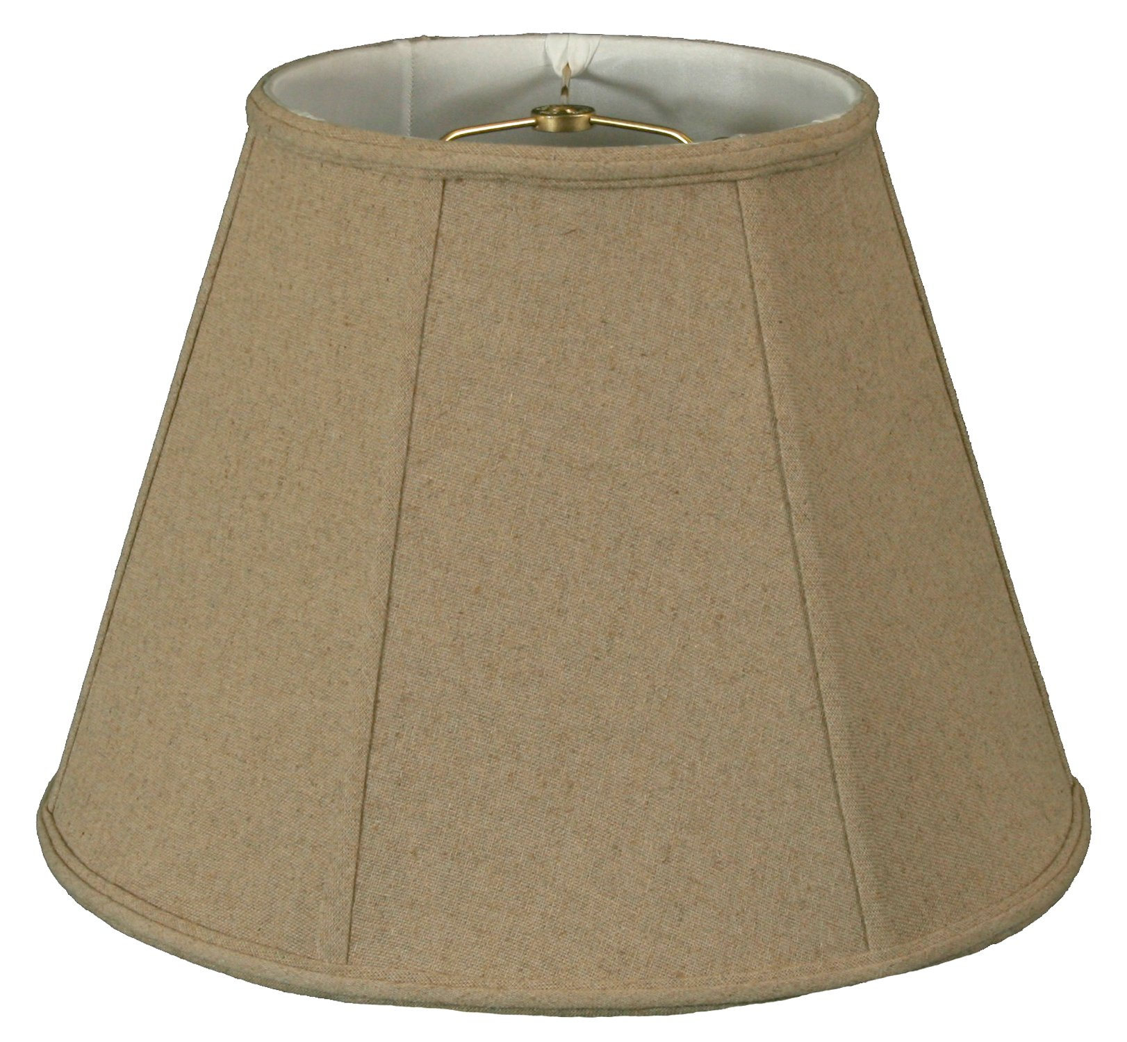 Royal Designs Deep Empire Lamp Shade, Linen Cream, 11 x 22 x 16