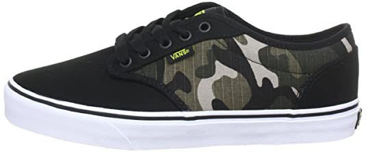 4a90e97284 Vans M ATWOOD (CAMO) BLACK SU Trainers Mens Black Schwarz ((Camo) black  sulphur) Size  11 (45 EU)  Amazon.co.uk  Shoes   Bags