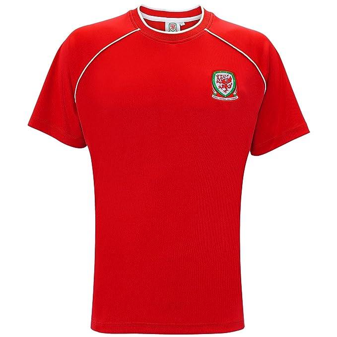 Selección de Gales - Camiseta Oficial de Manga Corta para Hombre (XL) (Rojo