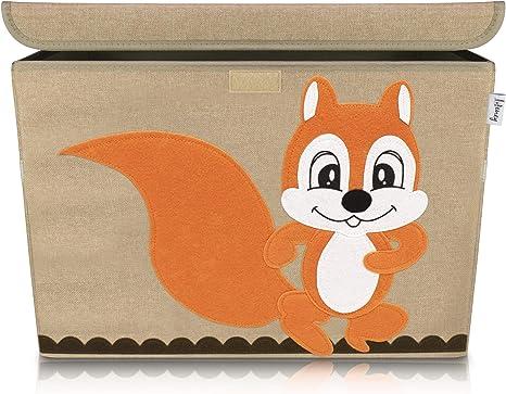 Lifeney baul juguetes infantil 51 x 36 x 36 cm I Caja con tapa ...