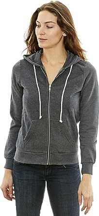 New York Avenue Women's Hooded Sweatshirt - Traditional Fit Soft Light Fleece Zip Up Hoodie - by NYA