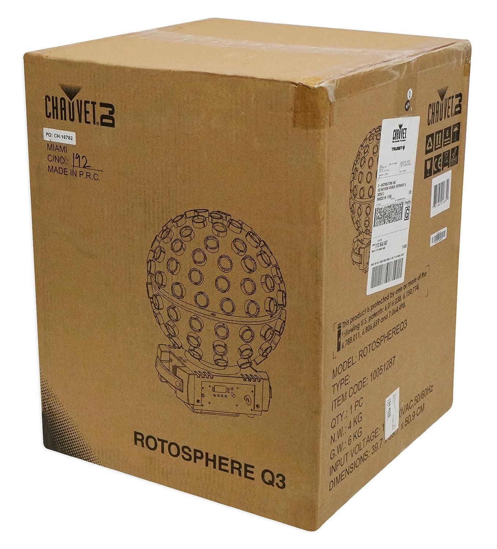 Chauvet Dj Rotosphere Q3 Mirror Ball Dance Floor Dmx Led 1 Box Isi 30 Effect Light Remote Musical Instruments