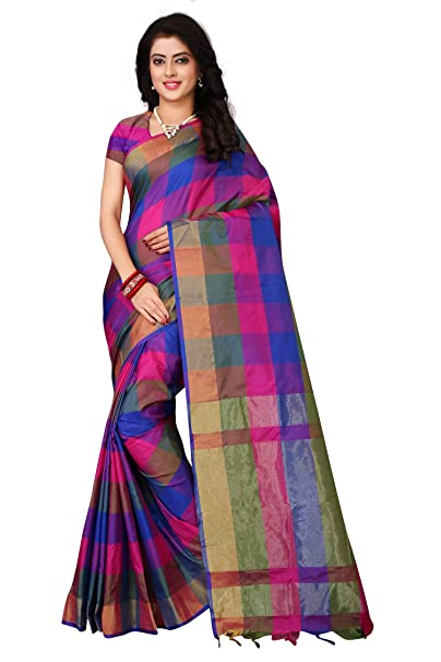 2b7cdc943f0940 OM SAI LATEST CREATION art silk with blouse piece Saree 2018 Blue One Size