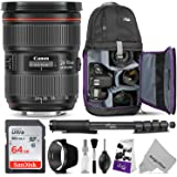 Canon EF 24-70mm f/2.8L II USM Standard Zoom Lens w/Advanced Photo and Travel Bundle - Includes: Canon USA Warranty, Altura Photo Sling Backpack, SanDisk 64gb SD Card, Monopod
