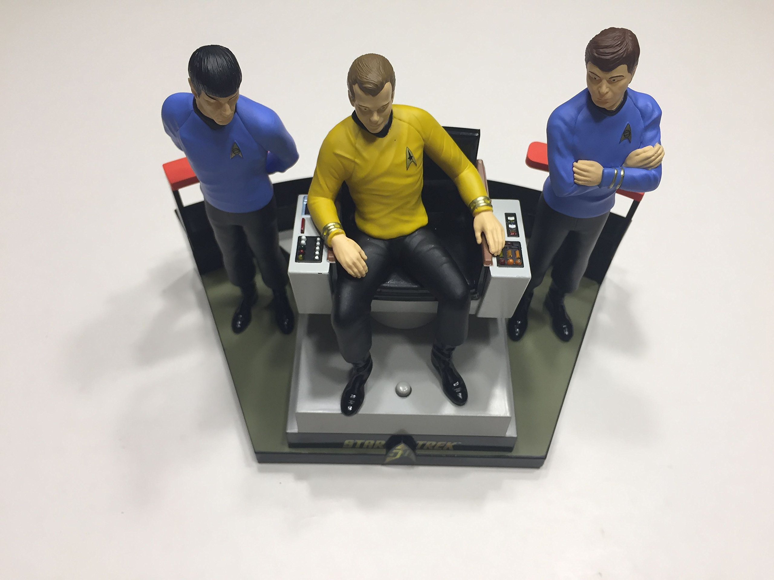Hallmark 2016 Christmas Ornament STAR TREK™ 50th Anniversary To Boldly Go Tabletop Decoration With Light and Sound