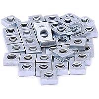 M8(8mm) carré Écrous–en acier (lot de 40)