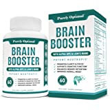 Premium Brain Supplement - Nootropic Brain Booster for Focus, Clarity, Improved Memory, Concentration & Better Mood…