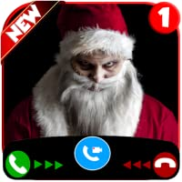 Fake Call Simulator with Scary Evil Santa - Free Fake Call! Prank 2019