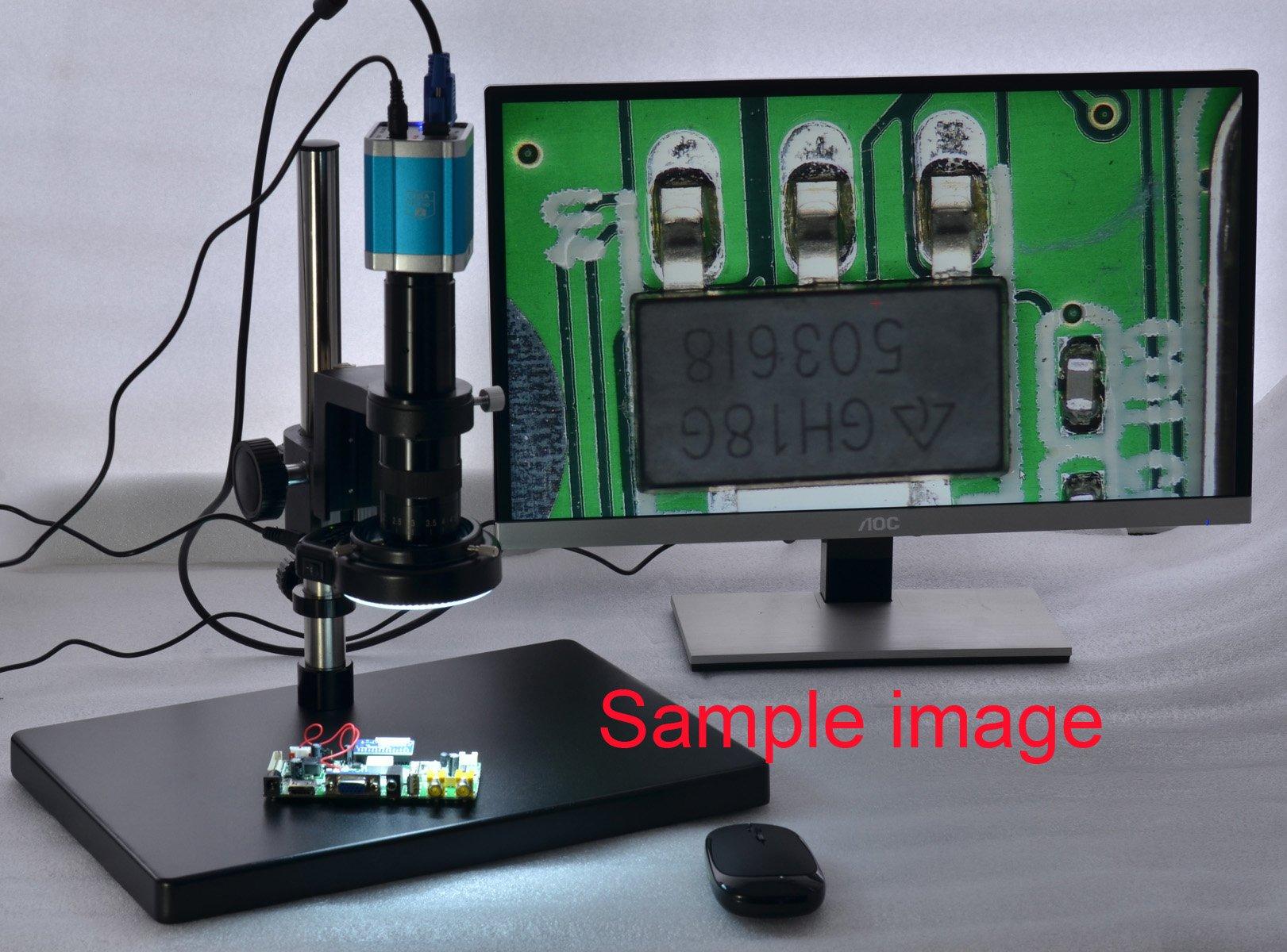 Black 144 LED Bulb Microscope Ring Light Illuminator Adjustable Bright Lamp + Adapter by Aihome (Image #7)