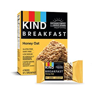 KIND Breakfast Probiotic Bars Honey Oat (Pack of 32)