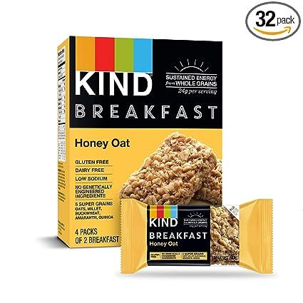 Amazon.com : KIND Breakfast Probiotic Bars, Honey Oat, 32 Count : Garden & Outdoor