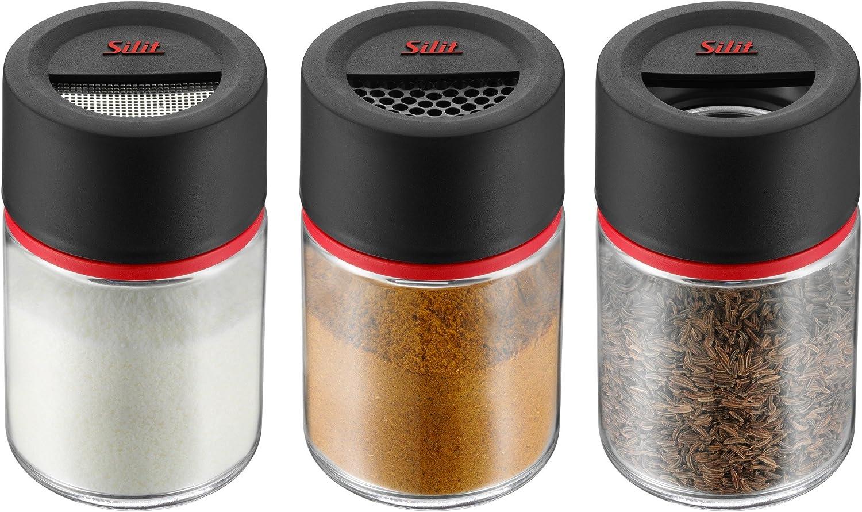 Silit Storio Bote de Cocina con colador Fino Negro y Rojo