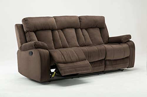 Blackjack Furniture 9760 Elton Collection Sofa Microfiber Reclining Modern Living Room