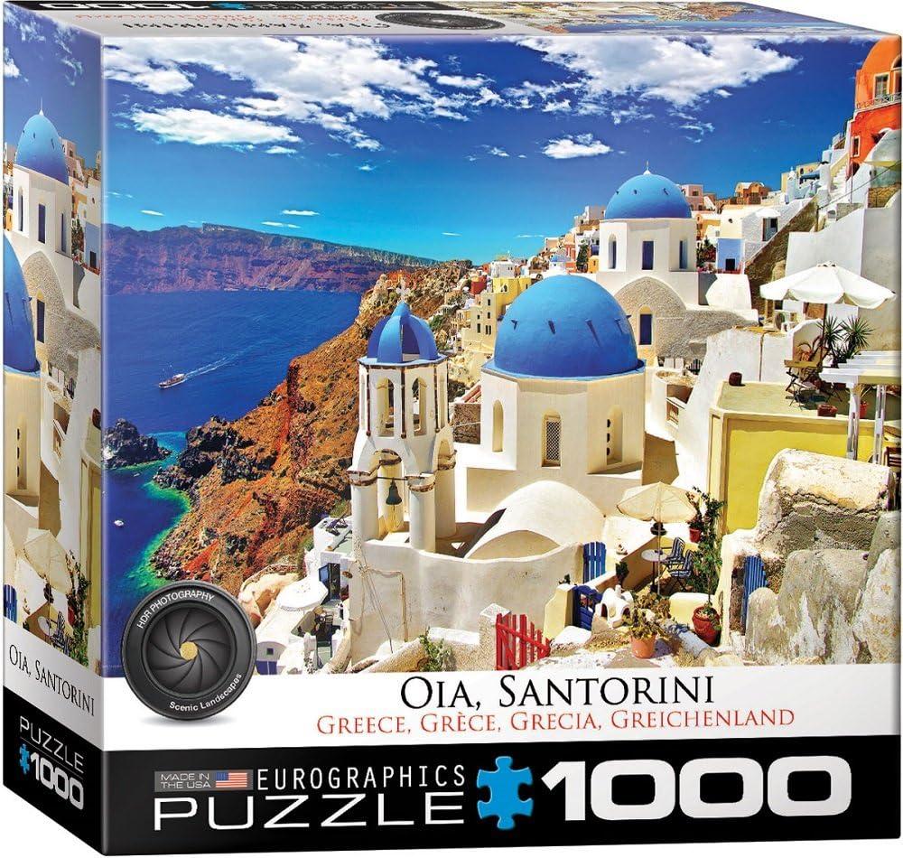 Eurographics 8000-0944 Oia Santorini - Puzzle (1000 Piezas): Amazon.es: Juguetes y juegos