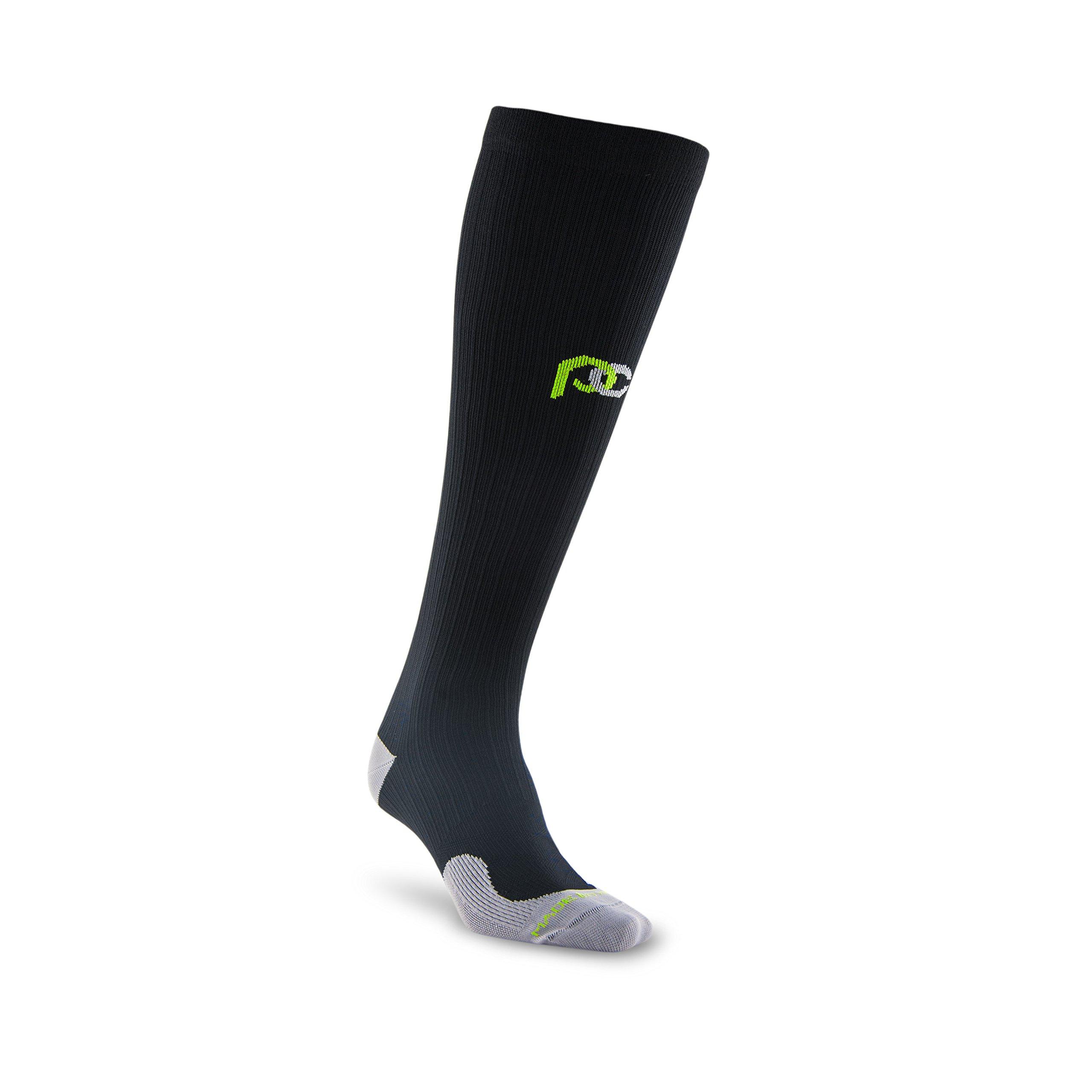 PRO Compression: Marathon (Full-Length, Over-the-Calf) Compression Socks, Black, Large/X-Large by PRO Compression