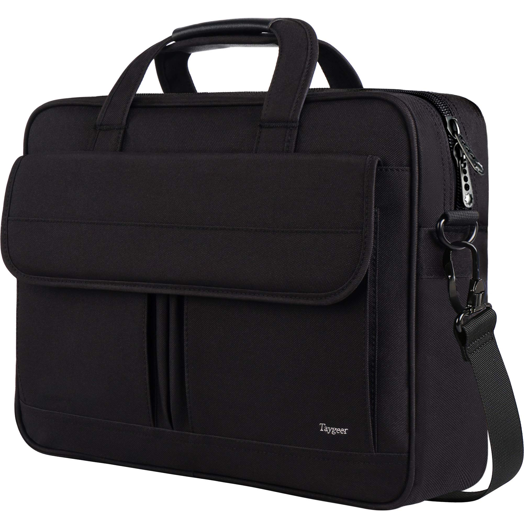 17 inch Laptop Bag, Laptop Briefcase Business Office Bag for Men Women, Taygeer Water-Repellent Computer Shoulder Messenger Bag with Organizer Fits 15.6 17 Inch Notebook MacBook HP Table, Black by Taygeer