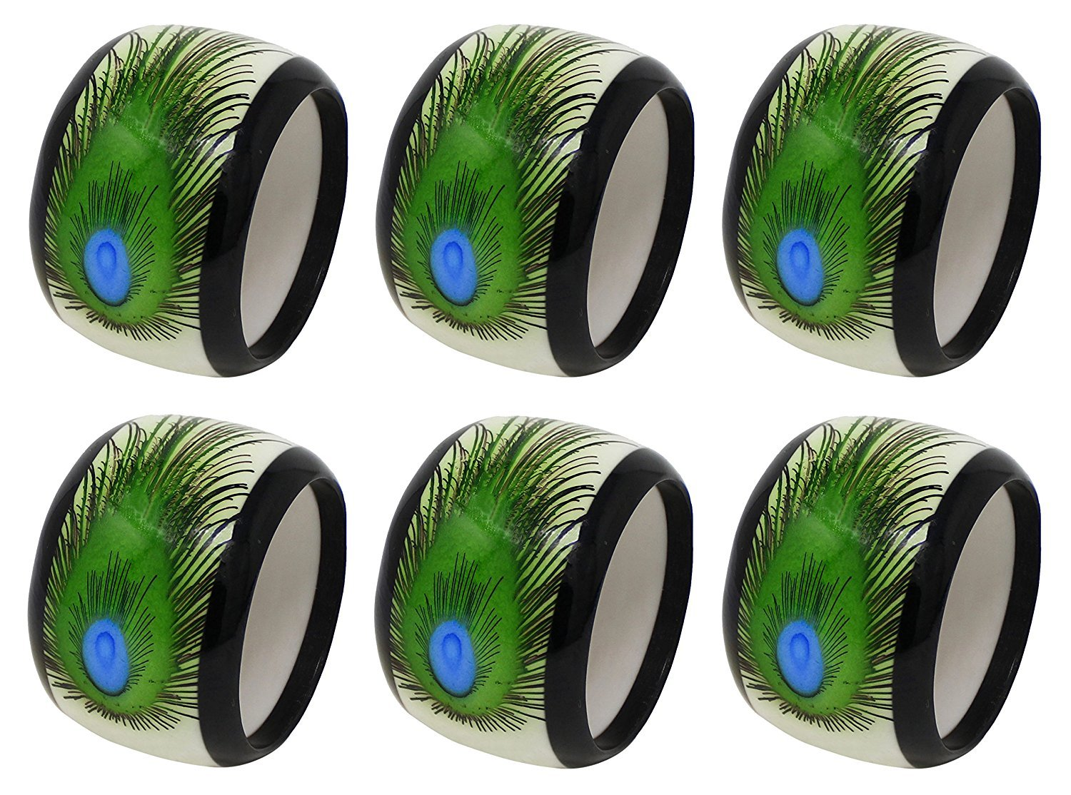 Handmade Round Colorful Napkin Rings Holder for Dinning Table Parties Everyday, Set of 12 by AUB